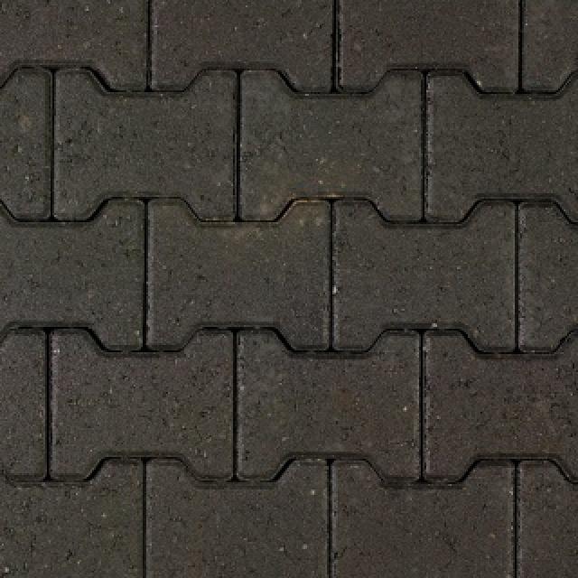 Halve H-profielen Zwart