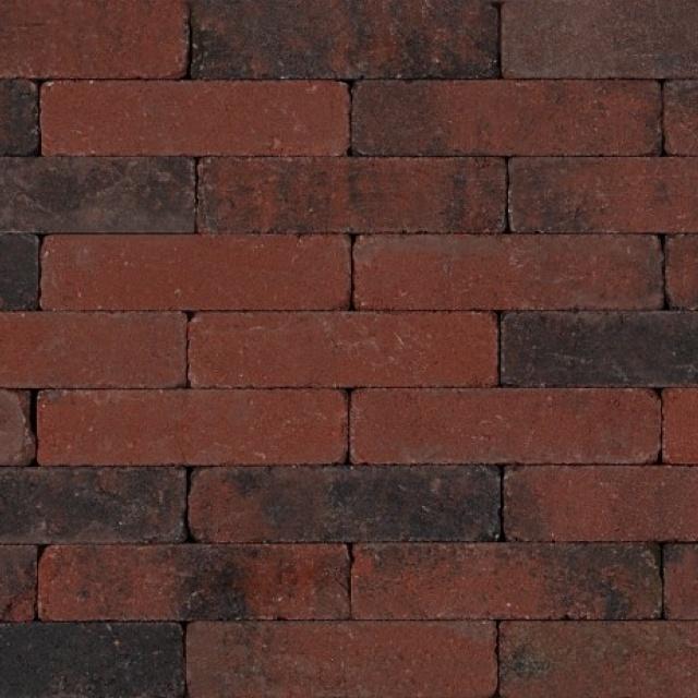 Waalformaat Rood Zwart Getrommeld (TWF04200507)