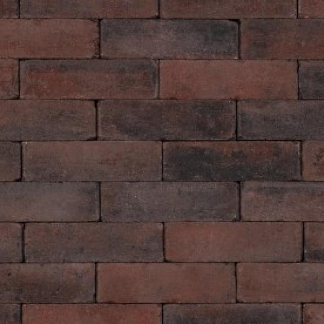 Dikformaat Rood Zwart Getrommeld (TDF04210706)