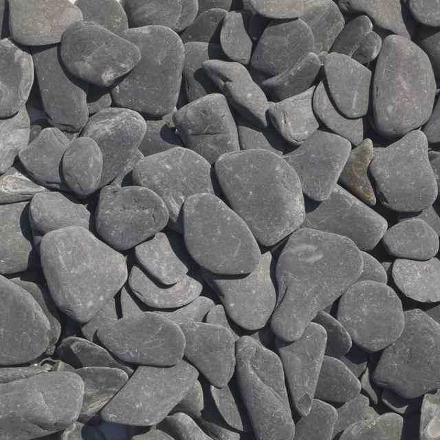 Flat pebbles zwart 30/60