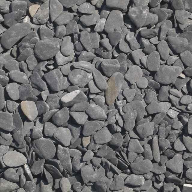 Flat pebbles zwart 15/30