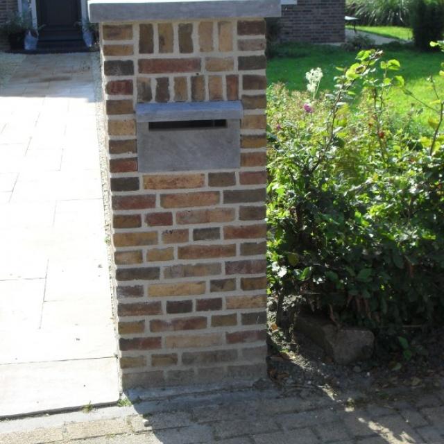 Hardsteen brievenbusplaat met opening