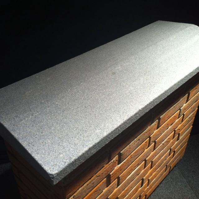 Muurafdekker Gevlamd Grijs Graniet