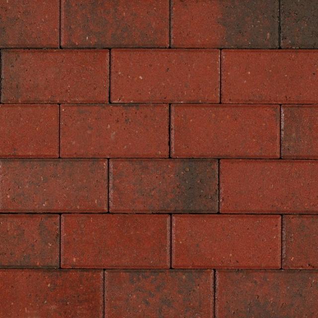 Betonklinkers Zwart-Rood Strak