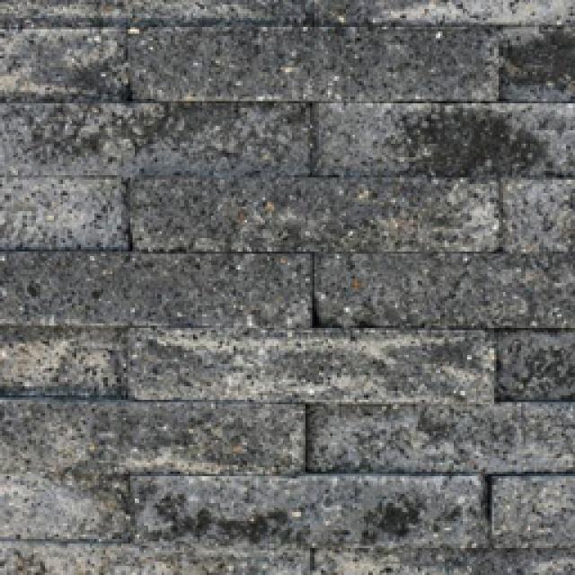 Brickwall 30x10x6,5 cm grijs/zwart (7000050)