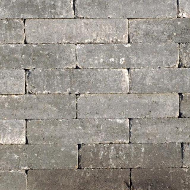 Waalformaat Abbeystones Grijs/Zwart (1000093)