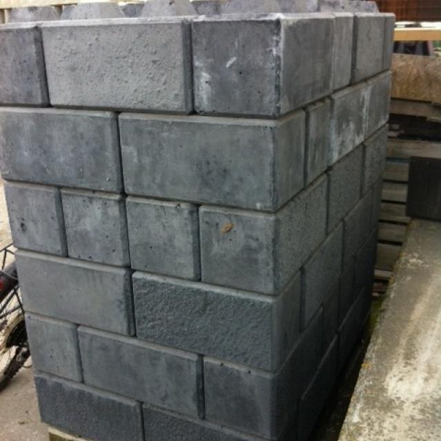 Stapelblok Legobeton Zwart-Grijs