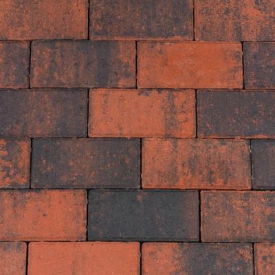 Halve Betonklinkers Rood/Zwart (BSSHALF0408)